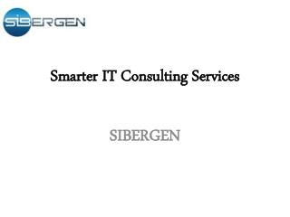 Smarter IT Consulting Services