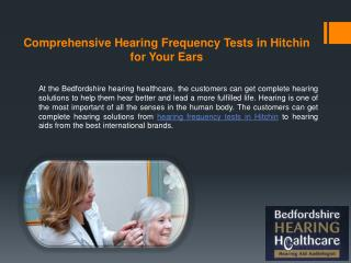 Comprehensive Hearing Frequency Tests in Hitchin for Your Ears