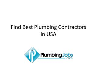 Find Best Plumbing Contractors in USA