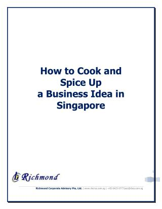 How to Cook and Spice Up a Business Idea in Singapore