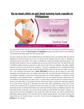 Affordable Tummy Tuck Surgery in Manila