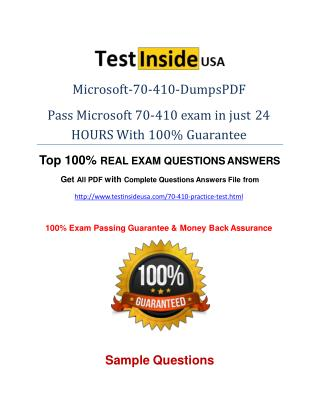 70-410 Exam Questions