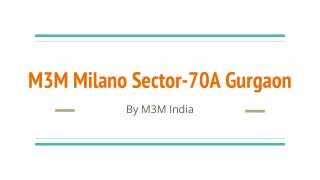 The Milano Spacious and roomy flats at golf course ext. road, gurgaon