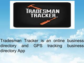 Tradesman Tracker - Online Search Facility