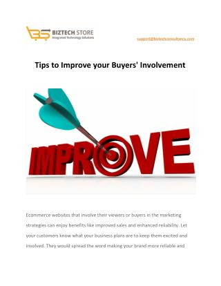 Tips to Improve your Buyers' Involvement