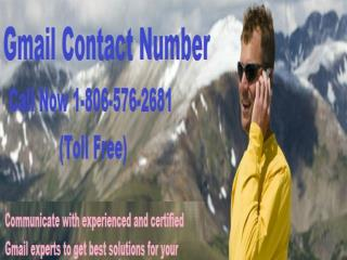 1-806-576-2681 toll free gmail Phone Number