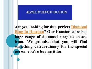 An Extraordinary Collection Of Diamond Ring In Houston