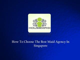 On-Line Maid Information