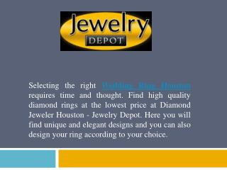 Stunning Selection Of Wedding Rings In Houston