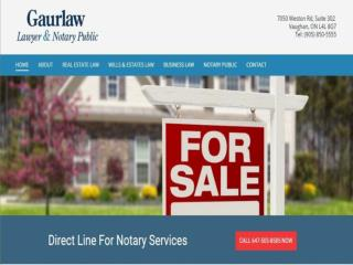 Notarization services Vaughan