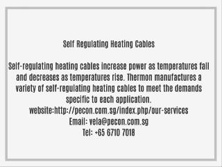 Self Regulating Heating Cables