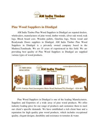 Pine Wood Suppliers In Dindigul | Pine Wood Suppliers In Madurai | Pine Wood Suppliers | Pine Wood Dealers In Dindigul