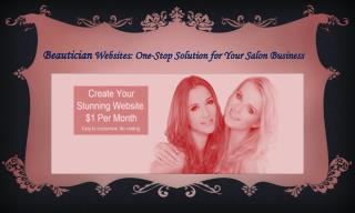 Create Your Stunning Website. $1 Per Month