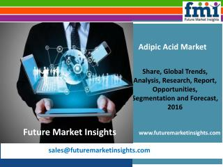 Adipic Acid Market Value Share, Supply Demand, share and Value Chain 2016-2026