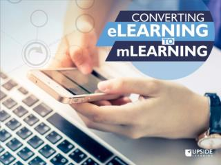 Converting eLearning to mLearning