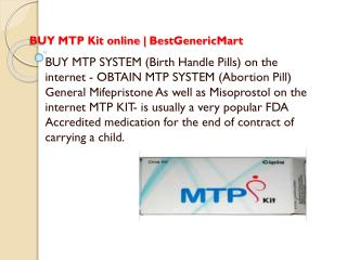 Resolve The Problem Of Unwanted Pregnancy With MTP kit