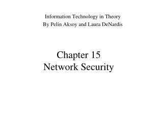 Chapter 15 Network Security