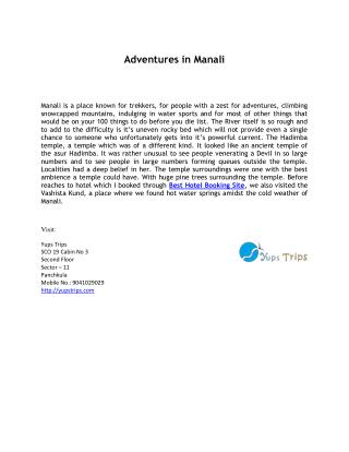best hotel booking sites in manali