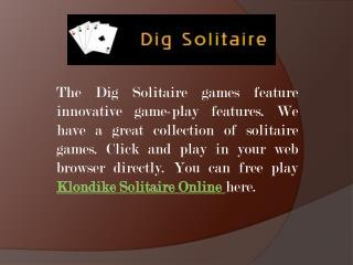 Klondike Solitaire Online Game-Play