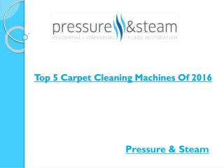 Top 5 Carpet Cleaning Machines Of 2016