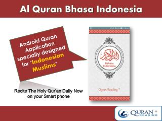 Al Quran Bhasa Indonesia mp3 Android application