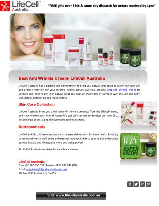 Best Anti Wrinkle Cream - LifeCell Australia