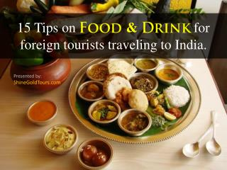 Food and Drink Tips on India Travel