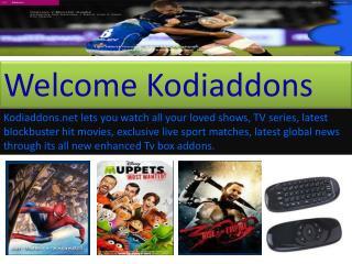Tv addons at kodiaddons.net