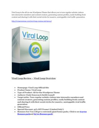 Viral Loop review & giant bonus