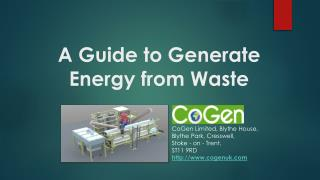 A Guide to Know Process of Generating Energy from Waste
