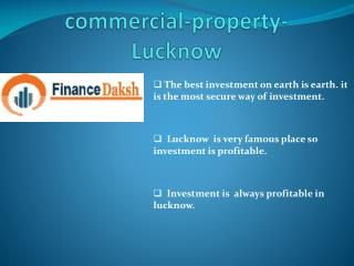 Select Commercial property in Lucknow for investment