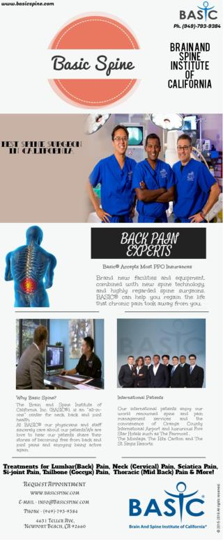 Surgical Spine Care Center Orange County CACA
