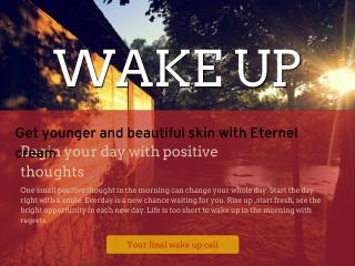 Get younger and beautiful skin with Eternel cream