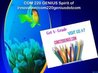 COM 220 GENIUS Spirit of innovation/com220geniusdotcom