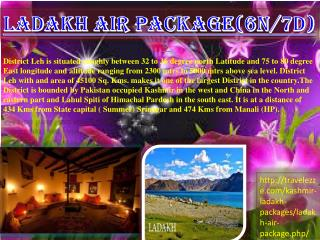 LADAKH AIR PACKAGE(6N/7D)