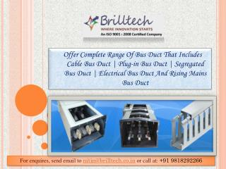 Rising Mains Bus Duct Manufacturers