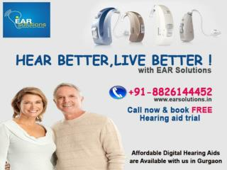 Affordable hearing aids in delhi Ear Solutions Call @  91-8826144452