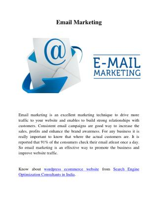 Reasons you should start an Email Marketing Campaign