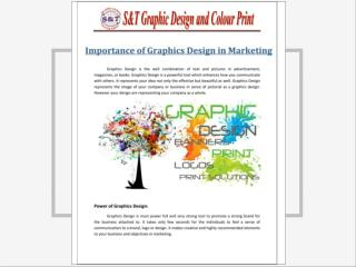 Importance of graphics design in marketing