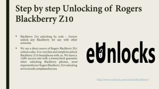 Step by Step Unlocking of Rogers Blackberry Z10