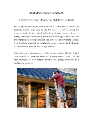 Energy Efficient multifamily building solutions