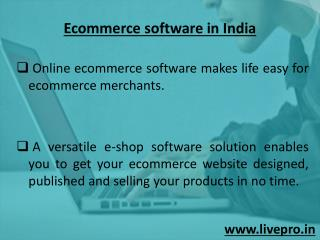 ecommerce software in India