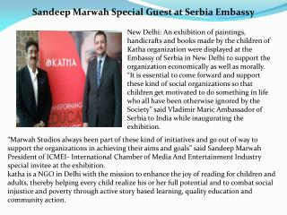 Sandeep Marwah Special Guest at Serbia Embassy
