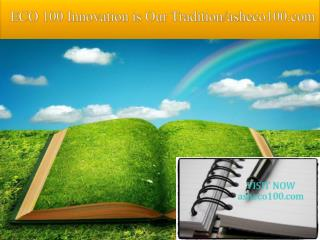 ECO 100 Innovation is Our Tradition/asheco100.com