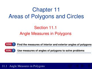 Chapter 11 Areas of Polygons and Circles