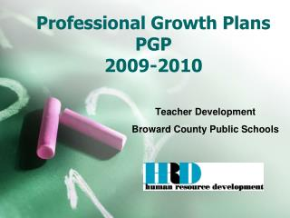Professional Growth Plans  PGP 2009-2010