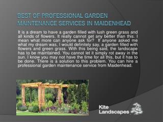 Best of Professional Garden Maintenance Services in Maidenhead