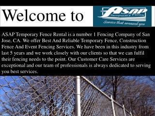 Welcome to ASAP Temporary Fence