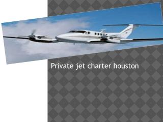 private jet charter houston