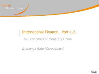International Finance - Part 1.2.